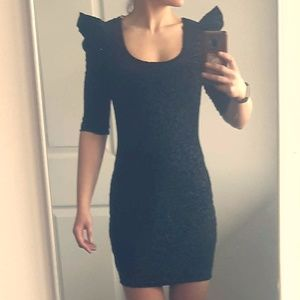 NWT Black Velvet burnout Body con Dress